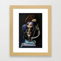 LADY BUCCANEER PIRATE OOAK BLYTHE ART DOLL Framed Art Print