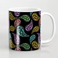Paisley Party - Black Mug