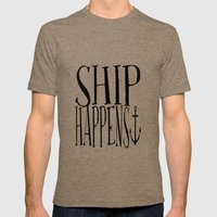 Ship Happens Mens Fitted Tee Tri-Coffee SMALL