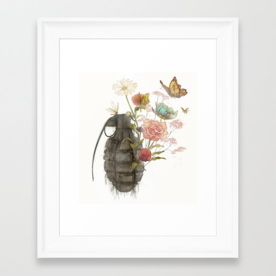 Containability to Sustainability  Framed Art Print