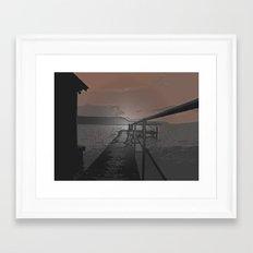 Lake Jetty Framed Art Print