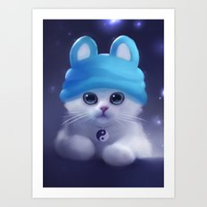 Yang The Cat Art Print