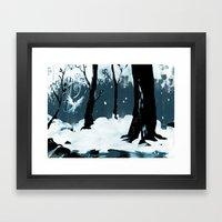 Snow Bird Framed Art Print
