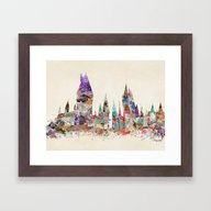 Hogwarts School Of Magic Framed Art Print