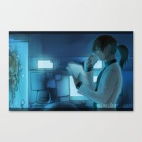 good night, carlos. good night  Canvas Print
