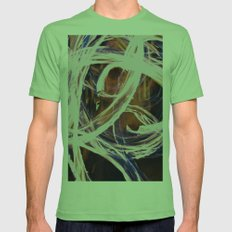 Fire Poi Mens Fitted Tee Grass SMALL