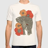 The Elephant Mens Fitted Tee Natural SMALL