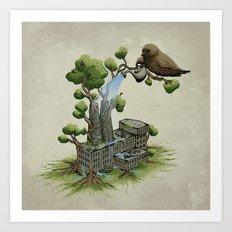 Factory Plant Art Print
