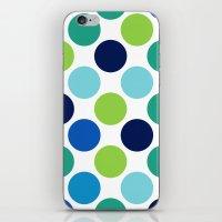 Big Loving Dots: Blue Multi iPhone & iPod Skin
