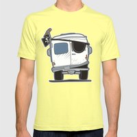 The Booty Wagon Mens Fitted Tee Lemon SMALL