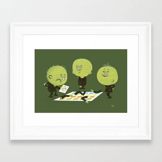 Zombie Twister Framed Art Print