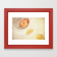 A cup of sweetness Framed Art Print