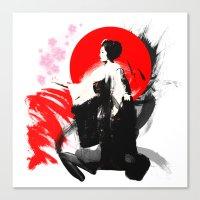 Japanese Geisha - Sakura… Canvas Print