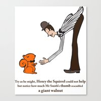 Henry The Squirrel's A G… Canvas Print