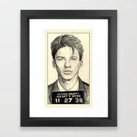 Frank Sinatra - Mugshot 1938 Framed Art Print