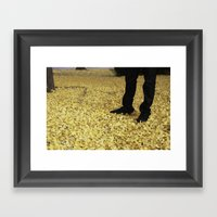 Gingko Snow Framed Art Print