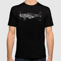 FW - 190 ( B & W) Mens Fitted Tee Black SMALL