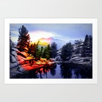 Colorado Flag/Landscape Art Print