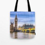 Westminster Bridge And B… Tote Bag