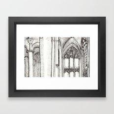 jumping the transition Framed Art Print