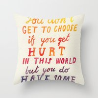 If You Get Hurt Poster Throw Pillow