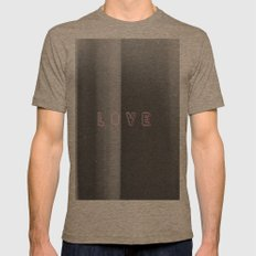 Love Mens Fitted Tee Tri-Coffee SMALL