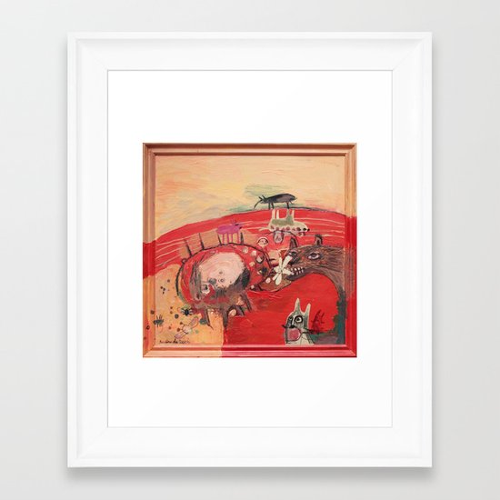 Inside Me Framed Art Print