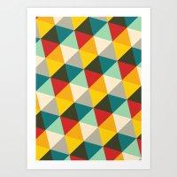 Tilting Triangles #2 (20… Art Print