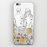 Holding Hands (3D Paperc… iPhone & iPod Skin