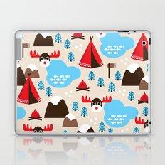 Scandinavian retro moose pattern Laptop & iPad Skin