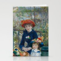 Pierre-Auguste Renoir - Two Sisters Stationery Cards