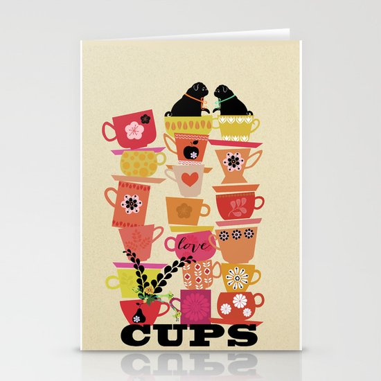 cups! Stationery Card