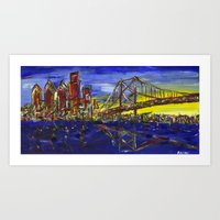 Philly Skyline With Ben … Art Print