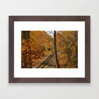 S Curve Framed Art Print