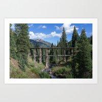Railroad Remnants Art Print