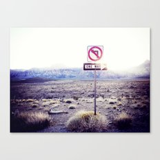One Way to nowhere Canvas Print