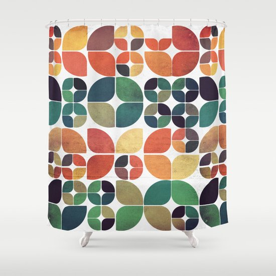 Vintage Fall Pattern Shower Curtain
