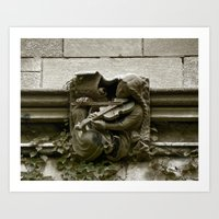 Musician Gargoyle, University of Chicago v.2 Art Print