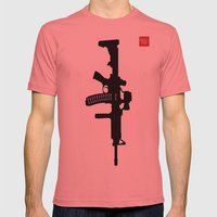 Art not War - Blue Mens Fitted Tee Pomegranate SMALL