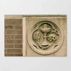 Brick and stone carving Canvas Print