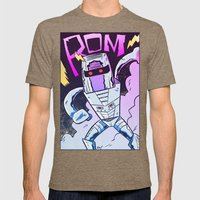 ROM! Mens Fitted Tee Tri-Coffee SMALL