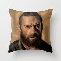 Jean Valjean Throw Pillow