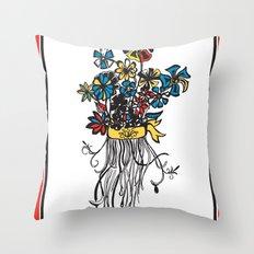 Bouquet - Skal Throw Pillow