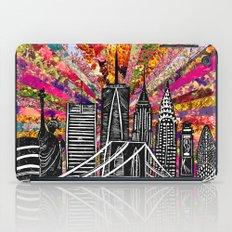 Linocut New York Blooming iPad Case