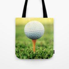 Golf Ball on Tee Tote Bag