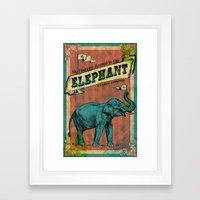 My Favorite Elephant Framed Art Print
