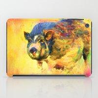 Jazzy Pig Colorful Animal Art by Jai Johnson iPad Case
