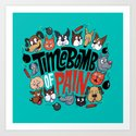 Time Bomb of Pain Art Print
