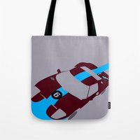 Orange Notch - Ford GT40 Race Car Tote Bag
