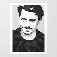 Here's Johnny... Art Print